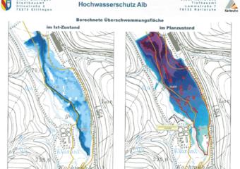 Wiederherstellung des 100-jährlichen Hochwasserschutzes an der Alb für die Städte Ettlingen und Karlsruhe